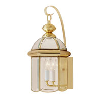 Livex Chatham 2 Light Outdoor Wall Lantern in Polished Brass 2542-02