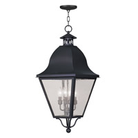 Livex Lighting Amwell 4 Light Outdoor Hanging Lantern in Black 2547-04
