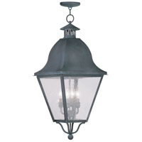 Livex Lighting Amwell 4 Light Outdoor Hanging Lantern in Charcoal 2547-61