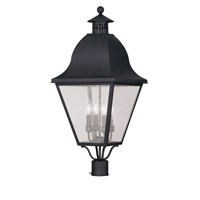 Livex Lighting Amwell 4 Light Outdoor Post Head in Black 2548-04