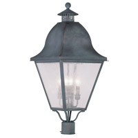 Livex Lighting Amwell 4 Light Outdoor Post Head in Charcoal 2548-61