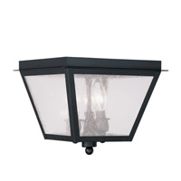Livex 2549-04 Amwell 3 Light 10 inch Black Outdoor Ceiling Mount