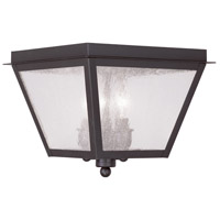 Livex 2549-07 Amwell 3 Light 10 inch Bronze Outdoor Ceiling Mount