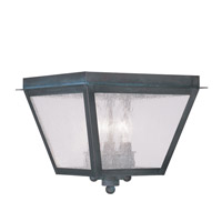 Livex Lighting Amwell 3 Light Outdoor Ceiling Mount in Charcoal 2549-61