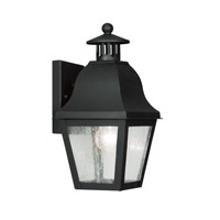 Livex Lighting Amwell 1 Light Outdoor Wall Lantern in Black 2550-04