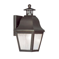 Livex Lighting Amwell 1 Light Outdoor Wall Lantern in Bronze 2550-07