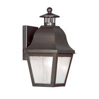 Livex 2550-07 Amwell 1 Light 14 inch Bronze Outdoor Wall Lantern
