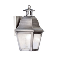 Amwell 1 Light 14 inch Vintage Pewter Outdoor Wall Lantern