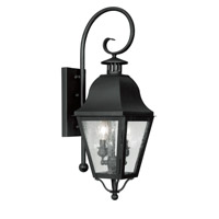 Livex Lighting Amwell 2 Light Outdoor Wall Lantern in Black 2551-04