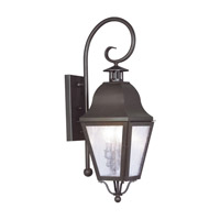 Livex 2551-07 Amwell 2 Light 26 inch Bronze Outdoor Wall Lantern