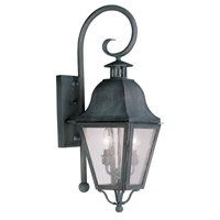 Livex Lighting Amwell 2 Light Outdoor Wall Lantern in Charcoal 2551-61