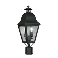 Livex Lighting Amwell 2 Light Outdoor Post Head in Black 2552-04 photo thumbnail