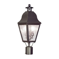 Livex 2552-07 Amwell 2 Light 23 inch Bronze Outdoor Post Head