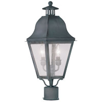 Livex Lighting Amwell 2 Light Outdoor Post Head in Charcoal 2552-61
