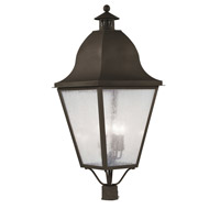 Livex 2554-07 Amwell 4 Light 38 inch Bronze Outdoor Post Head