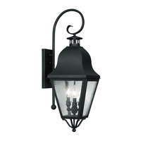 Livex Lighting Amwell 3 Light Outdoor Wall Lantern in Black 2555-04