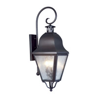Livex Lighting Amwell 3 Light Outdoor Wall Lantern in Bronze 2555-07