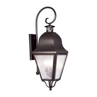 Livex 2555-07 Amwell 3 Light 32 inch Bronze Outdoor Wall Lantern