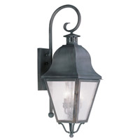 Livex Lighting Amwell 3 Light Outdoor Wall Lantern in Charcoal 2555-61