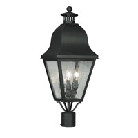 Livex Lighting Amwell 3 Light Outdoor Post Head in Black 2556-04