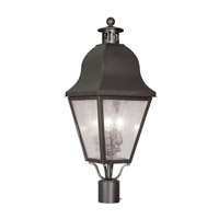 Livex 2556-07 Amwell 3 Light 28 inch Bronze Outdoor Post Head