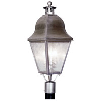 Amwell 3 Light 28 inch Vintage Pewter Outdoor Post Head
