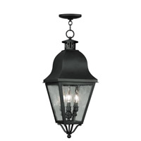 Livex Lighting Amwell 3 Light Outdoor Hanging Lantern in Black 2557-04