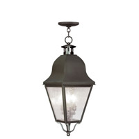 Amwell 3 Light 11 inch Bronze Outdoor Hanging Lantern