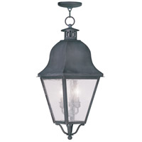 Livex Lighting Amwell 3 Light Outdoor Hanging Lantern in Charcoal 2557-61