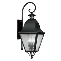 Livex Lighting Amwell 4 Light Outdoor Wall Lantern in Black 2558-04 photo thumbnail
