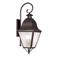 Livex Lighting Amwell 4 Light Outdoor Wall Lantern in Bronze 2558-07
