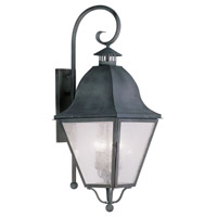 Livex Lighting Amwell 4 Light Outdoor Wall Lantern in Charcoal 2558-61