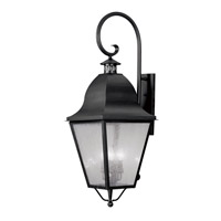 Livex Lighting Amwell 4 Light Outdoor Wall Lantern in Black 2559-04