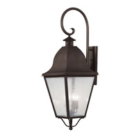 Livex Lighting Amwell 4 Light Outdoor Wall Lantern in Bronze 2559-07 photo thumbnail