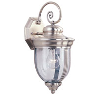 Livex Windham 1 Light Outdoor Wall Lantern in Brushed Nickel 2561-91