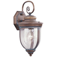Livex Lighting Windham 1 Light Outdoor Wall Lantern in Vintage Brass 2561-93