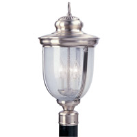 Livex Lighting Windham 3 Light Outdoor Post Head in Brushed Nickel 2563-91