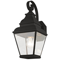 Exeter 1 Light 16 inch Black Wall Lantern