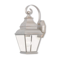 Exeter 1 Light 16 inch Brushed Nickel Outdoor Wall Lantern