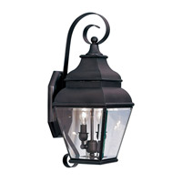 Livex Exeter 2 Light Outdoor Wall Lantern in Bronze 2591-07