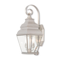 Exeter 2 Light 22 inch Brushed Nickel Outdoor Wall Lantern