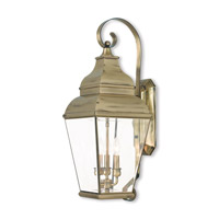 Exeter 3 Light 28 inch Antique Brass Outdoor Wall Lantern