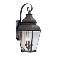 Livex Lighting Exeter 3 Light Outdoor Wall Lantern in Bronze 2593-07 photo thumbnail
