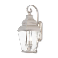 Exeter 3 Light 28 inch Brushed Nickel Outdoor Wall Lantern
