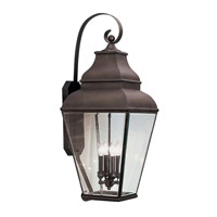 Exeter 4 Light 36 inch Bronze Outdoor Wall Lantern