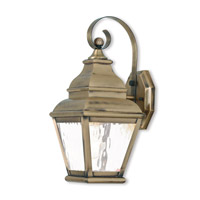 Exeter 1 Light 16 inch Antique Brass Outdoor Wall Lantern