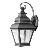 Exeter 1 Light 15 inch Black Outdoor Wall Lantern