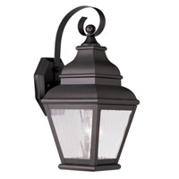 Livex Lighting Exeter 1 Light Outdoor Wall Lantern in Bronze 2601-07