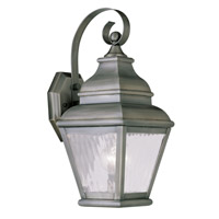 Exeter 1 Light 15 inch Vintage Pewter Outdoor Wall Lantern