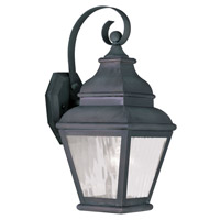 Livex 2601-61 Exeter 1 Light 15 inch Charcoal Outdoor Wall Lantern